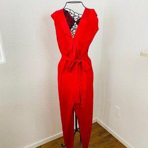 ROMEO & JULIET XL Jumpsuit Intense Red sleeveless